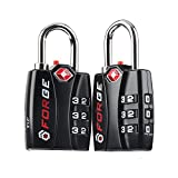 Forge TSA Locks 2 Pack - Open Alert Indicator, Alloy Body for Travel Luggage, Suitcase, Lockers