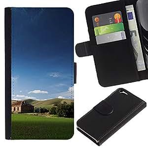 Paccase / Billetera de Cuero Caso del tirón Titular de la tarjeta Carcasa Funda para - Nature Field Cabin - Apple Iphone 6 4.7