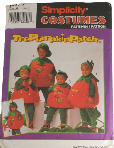 Simplicity Pattern 8577 Childs Pumpkin Costumes Size Small to Large