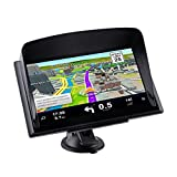 CARMATE GPS Navigation for Truck and Car with Bluetooth 7-Inch Resistance Screen with Sun Visor (Black)