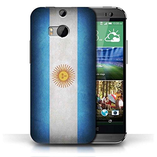 Etui / Coque pour HTC One/1 M8 / Argentine/argentin conception / Collection de Drapeau