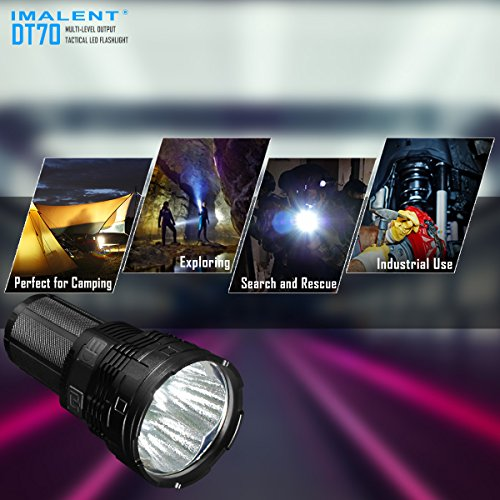 IMALENT DT70 Flashlights High Lumens Rechargeable 16000 Lumens 4 Pcs CREE XHP70 LEDs, Portable Handheld Torch by IMALENT (Image #1)