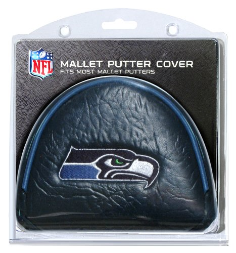 Team Golf NFL Seattle Seahawks Golf Club Mallet Putter Headcover, Fits Most Mallet Putters, Scotty Cameron, Daddy Long Legs, Taylormade, Odyssey, Titleist, Ping, Callaway
