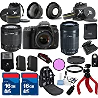 Canon 7D Mark II Camera Body with 18-55mm IS STM + 55-250mm IS STM + 3pc Filter Kit + Wide Angle + Spider Tripod + Extra Battery + 2pcs 16GB Memory Cards + 24pc Kit - International Version