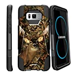 MINITURTLE Case Compatible w/ Samsung Galaxy S8 Plus Stand Case| SMG955| S8 Plus Slim Case [SHOCK FUSION] Hybrid Shock Resistant Dual Layer w/ Stand Cover Deer Hunting