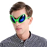 Ocean Line Funny Alien Costume Mask Novelty Glasses Halloween Party Photobooth Props Favors Accessories Party Supplies Decoration Gift (Green)