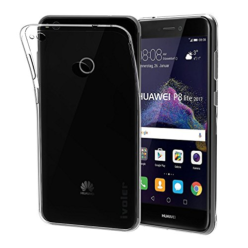 Vanki® Funda Huawei P8 Lite (2017) / honor 8 lite/ Nova Lite Silicona TPU Transparente Suave Clear Flexible Anti Choque Ultra Delgado Case Cover para Huawei P8 Lite 2017 5