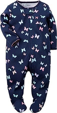 Carter's Girls' Footie 115g061, Butterfly, New Born