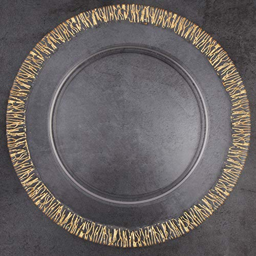 ALINK Glass Charger Plates, 13