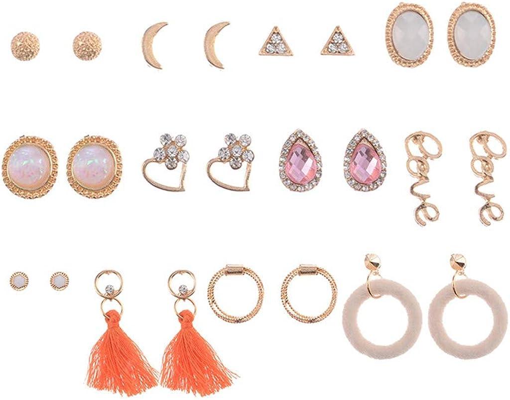 Dorical Vintage 12 piezas luna ámbar joyas de diamantes con flecos ...