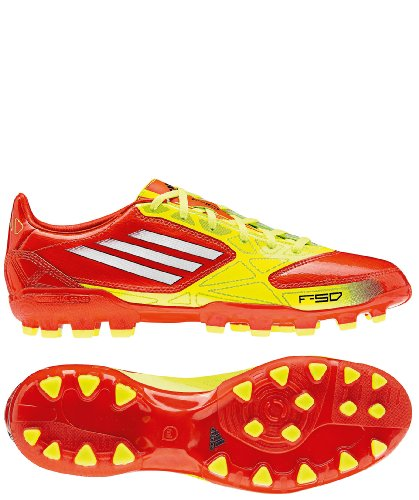Adidas F10 TRX AG Fußballschuhe Herren orange - gelb