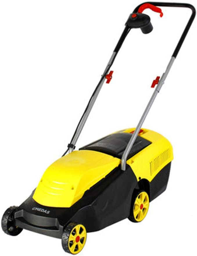 Electric Lawn Mower, Cordless Digital Compact Lawn Mower Cutting Width 32 cm with Charger(104 X 38 X 100cm)