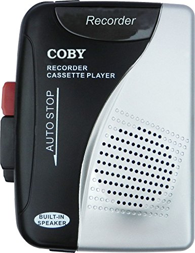 Coby CRV-21 Cassette Recorder/Player with Built-in Microphone and Speaker