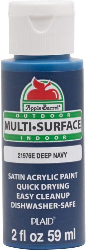 Apple Barrel Multi Surface Acrylic Paint, 2 oz, Deep Navy 2 Fl Oz