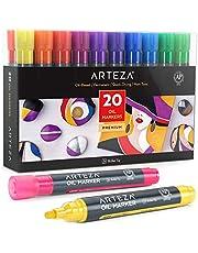 Arteza Markery do malowania, zestaw 20 markerów idealne do rysowania i malowania na praktycznie każdej powierzchni
