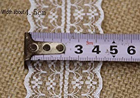 -Length:10M//Roll LNKA Lace Trim Ribbon 4.5CM Width 1.77inch for Decorating Floral Designing and Crafts Cream-Coloured Lace Ribbon, 3Rolls