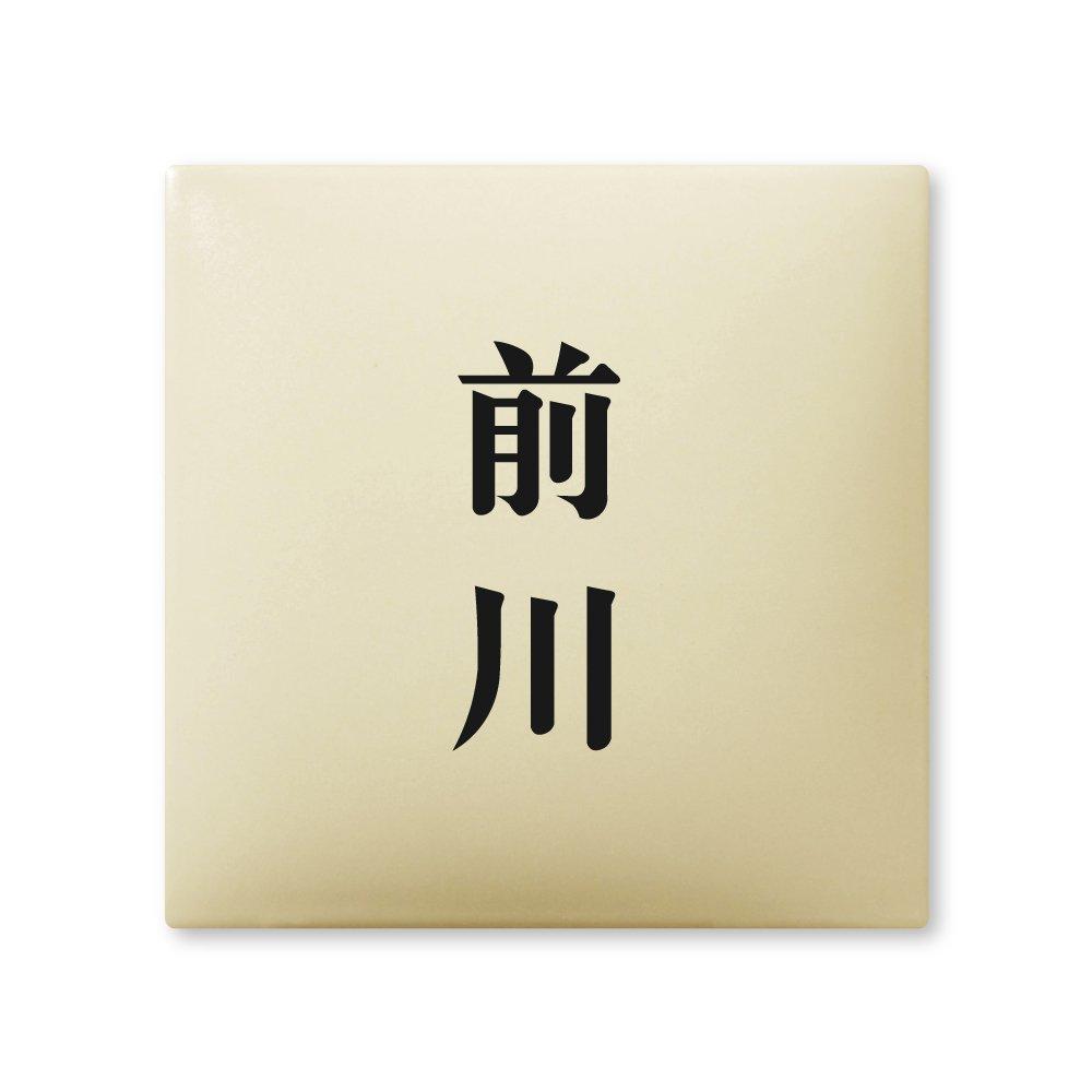 丸三タカギ 彫り込み済表札 【 前川 】 完成品 アークタイル AR-1-2-2-前川   B00RFAD9LU