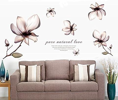 Fangeplus(TM) Fantasy Flowers Removable DIY Art Mural Vinyl Waterproof Wall Stickers Living Room Decor Bedroom Decal Sticker Wallpaper (Fantasy Mural)