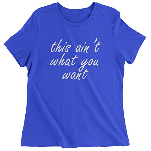 Womens King's Dead That Aint What You Want T-Shirt X-Large Royal - Rb 3119