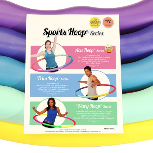 Sports Hoop Weighted Hoop, Weight Loss ACU Hoop 5L – 4.9lb (41.5 inches Wide) Large, Weighted Fitness Exercise Hula Hoop