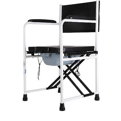 Toilet Silla de baño Silla de tocador de aleación de Aluminio Silla de Ruedas discapacitados Embarazada