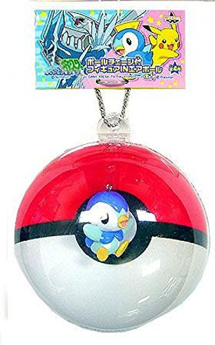Banpresto Pokemon - Banpresto Pokemon Inflated Pokeball Keychains Piplup in Pokeball PVC Figure
