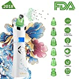 [UPGRADED] Blackhead Remover, Pore Vacuum,6 in 1 Facial Pore Cleaner Standable USB Rechargeable Facial Skin Treatment Beauty Tool for women men