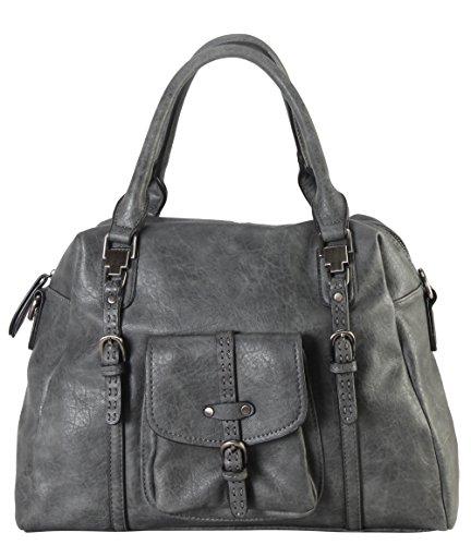 diophy-front-pocket-zipper-closure-tote-handbag-cz-3727-grey