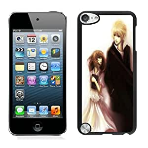 Fashionable And Unique Designed With Anime Couple Cover Case For iPod Touch 5th Black Phone Case CR-031