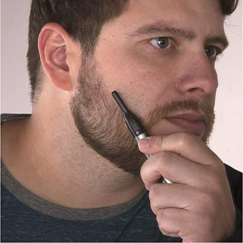 51de%2Bmkna0L - Wahl Micro Groomsman Personal Pen Trimmer & Detailer for Hygienic Grooming with Rinseable, Interchangeable Heads for Eyebrows, Neckline, Nose, Ears, & Other Detailing - Model 5640-600