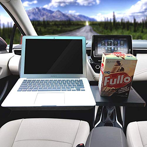 Ma Way Car Laptop Desk, Multi-Functional Tablet Holder Portable Lap Mount Notebook Table Car Seat Travel Tray Steering Wheel Desk (Automotive Wheel Stands)