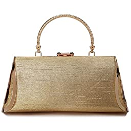 Clutch Evening Bag, ULG 8.5 inch Women's Rhinestone Chain Clutch Bags for Parties
