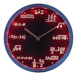 Lightinthebox nc0461 Math Class Algebra Formula Mathematics Teacher gift Neon LED Wall Clock Home Decor Design Wall Clocks Color=Red