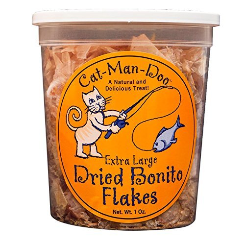 Cat -Man -Doo Extra Large Bonito Flakes, 1 -Ounce Container o Pouch di Cat -Man -Doo