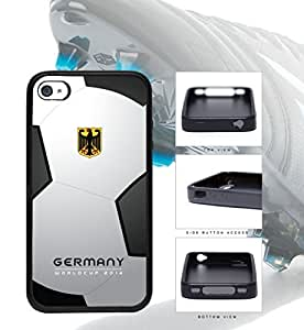 Germany World Cup 2014 Professional Soccer Sports Rubber TPU Case Cover iPhone 4 4s by Maris's Diary