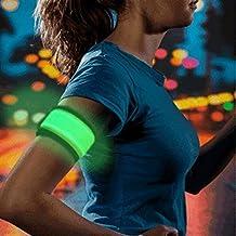 Higo LED Slap Armband, Lights for Running, Glow Bracelets with Color Box Package