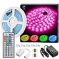 MINGER LED Strip Lights, 16.4ft RGB LED Light Strip 5050…
