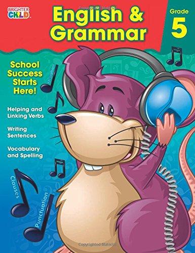 English & Grammar Workbook, Grade 5 (Brighter Child Workbooks) pdf epub