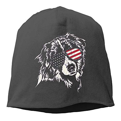 Aussie America Shepherd Women/Men Wool Hat Soft Stretch Beanies Skull Cap Unisex ()