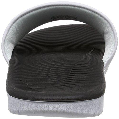 Nike Kawa Slide (GS/PS), Chanclas Para Niños Blanco (White / Black 100)