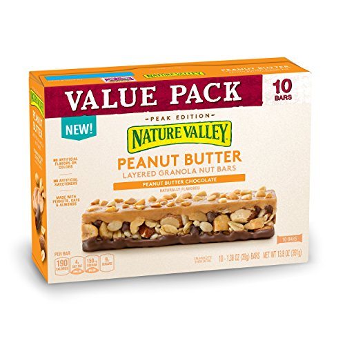 Nature Valley Layered Peanut Butter And Chocolate Granola Nut Bars, 13.8 oz ()