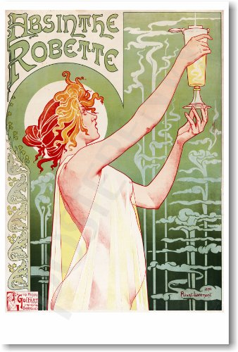 - Absinthe Robette - NEW Vintage French Art 1895 Reprint Poster