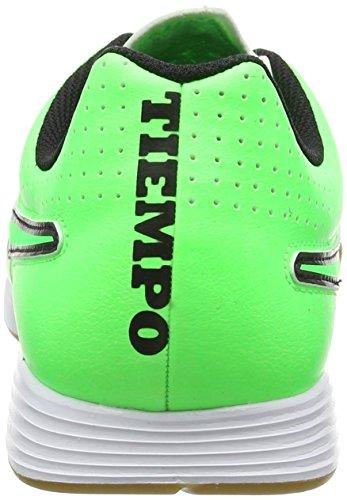 NikeTiempo Genio Leather IC - Zapatillas de Fútbol Entrenamiento  Hombre Verde - Green (Green Strike/Green Strike-Black-Black Lightning)