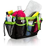 Simply Things Heavy Duty Mesh Shower Caddy Tote with 9 Storage Compartments and Two Strong Durable Handles, This Mesh Shower Caddy is Perfect for Dorm, Gym, Camping, Beach, Spa and Travel (Lime)