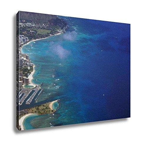 Ashley Canvas, Waikiki Ala Moana Beach Park Kapiolani Park Harbor Condos Di, 24x30, - Waikiki Center Moana Ala