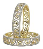 MUCHMORE Bollywood Lovely Style Gold Tone Diamond Swarovski Elements Indian Bangles Traditional Jewelry (2.6)