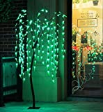 Fashionlite 5.5-Feet 200 LED Cascading Dropping Willow Light Tree,Brown