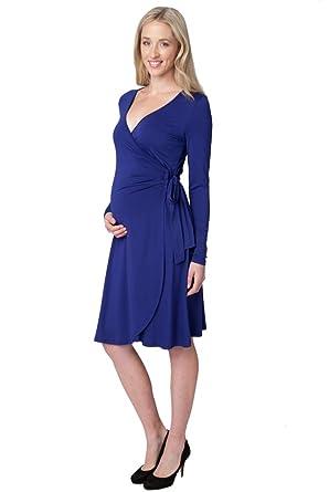 3d4c4d3635 Amazon.com  Ripe Maternity Gia Long Sleeve Wrap Dress  Clothing