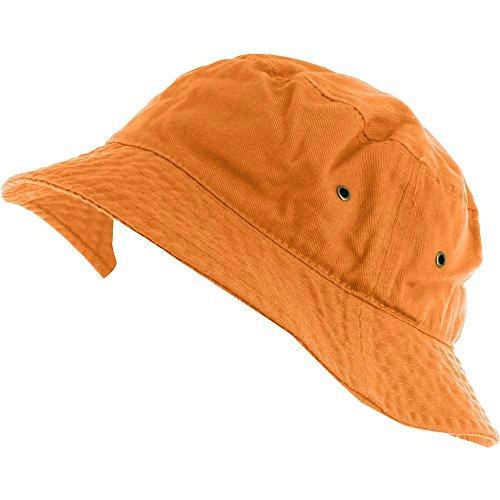 Orange_(US Seller) 100% Cotton Hat Cap Bucket Boonie Unisex by Easy-W