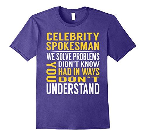 Celebrity Costumes Ideas (Mens Celebrity Spokesman Solve Problems TShirt 2XL Purple)
